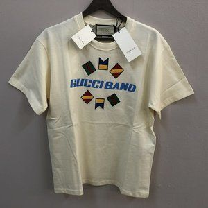 "Gucci Band Men White T-Shirt ""XXL"""
